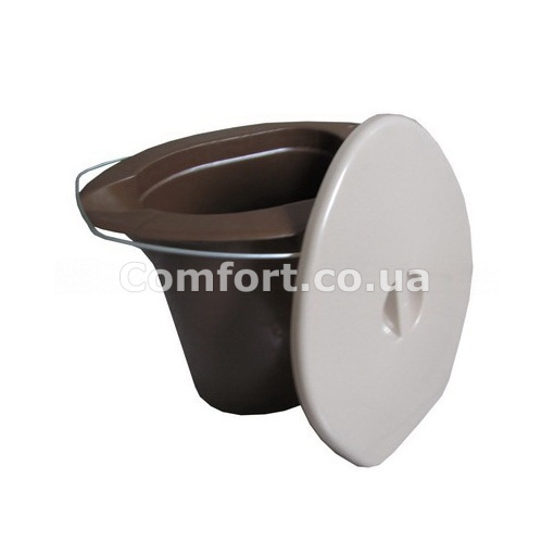 Ведро-туалетик с металлической ручкой
