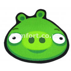 Коврик Таба фигурка 67х67 Мордочка зеленые глазки