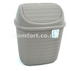 Ведро для мусора 7,5л косичка TP-4043