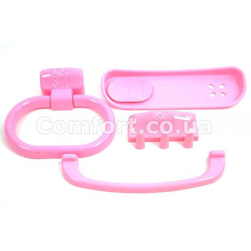 Набор для ванной №45 розовый