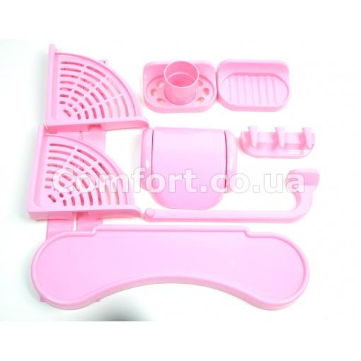 Набор для ванной №54 розовый