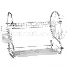 Сушилка для посуды 2-яр хром 4684