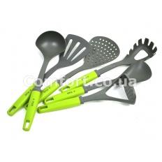 Набор кухонный тефлон 6 предметов зеленый