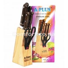 Набор  1005 ножей коричневый