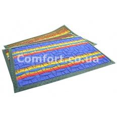 Коврик с ободком 40х60 разноцветный