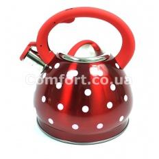 Чайник 1390 3л цветной в горошек