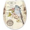 Крышка для унитаза ELIF с рисунком 372 птица