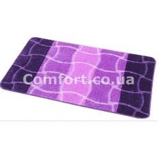 Коврик 1-й 60х100 турция фиолет + сиреневый + светлый