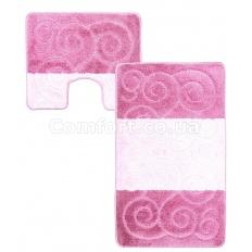 Коврик 2-й 60х100 турция розовый + светлый