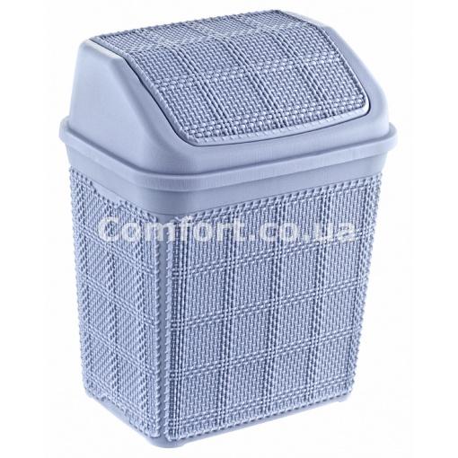 Ведро для мусора 6,5л плетенка 586