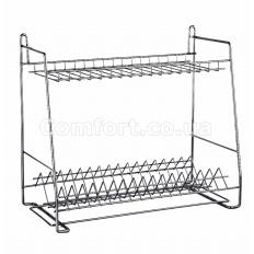 Сушилка металл для посуды трапеция 60см хром 2-яр