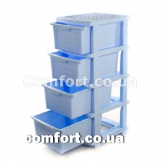 Комод plastic 4-яр в коробке голубой