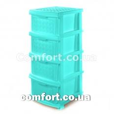 Комод plastic 4-яр в коробке мятный