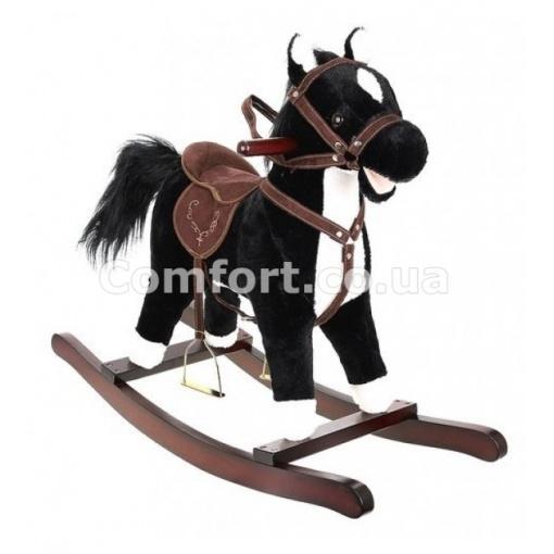 Лошадка качалка черная