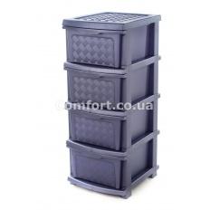 Комод plastic 4-яр в коробке фиолетовый
