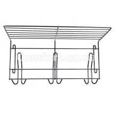 Вешалка для одежды металл на 3 крючка хром ВО-32
