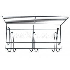 Вешалка для одежды металл на 3 крючка графит ВО-33