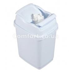 Відро для сміття 10л подвійна кришка 09712