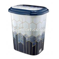 Бак для белья TP-1715 Синие соты 49л