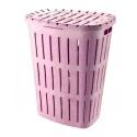 Бак для белья 465  Ботаника розовый Брак немножко лопнуто донышко и крышка