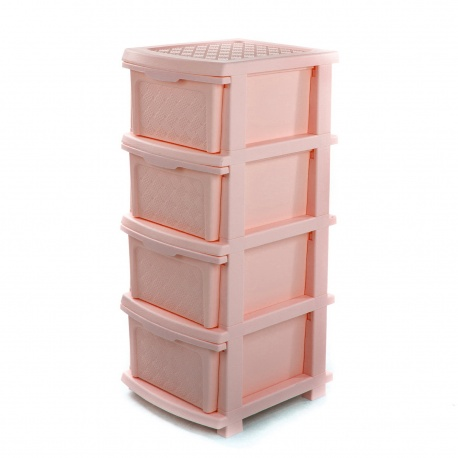 Комод plastic 4-яр в коробці пудра