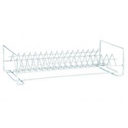 Сушарка метал для посуду 1-яр пряма 40см біла СП-14221