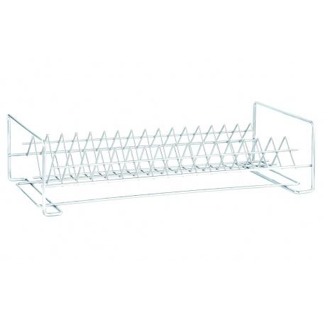 Сушилка металл для посуды 1-яр прямая 40см белая СП-14121