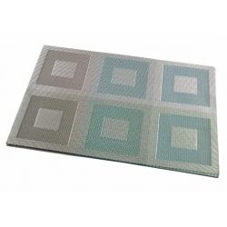 Термосалфетка набор 12шт квадраты зеленые