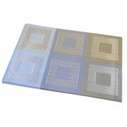 Термосалфетка набор 12шт квадраты серые-голубые