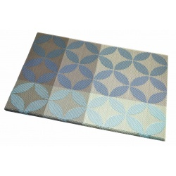 Термосалфетка набор 12шт листочки лазурно-синий цвет
