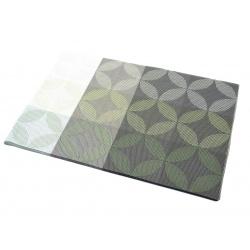 Термосалфетка набор 12шт листочки зеленый перламутр