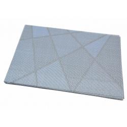 Термосалфетка набор 12шт графика серо-голубой