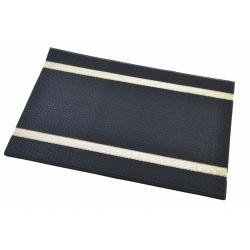 Термосалфетка набор 12шт черная с золотыми полосками