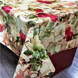 Клейонка 1,37*25м рулон ПВХ на нетканій основі 8405A трояндочки, конверти