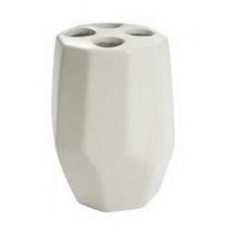 Стакан для зубных щеток керамика Leros 2936 белый грань