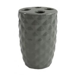 Стакан для зубных щеток керамика Milos 2974 нежно-серый модный