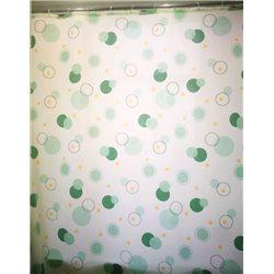 Штора Миранда CIRCLE зеленая