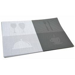 Термосалфетка Table Mat набір 12шт бокалы сірий