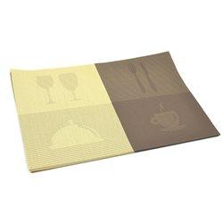 Термосалфетка Table Mat набір 12шт бокалы бежевий