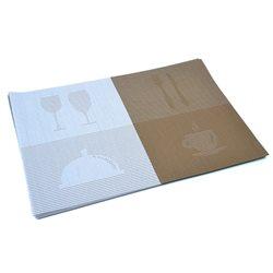Термосалфетка Table Mat набор 12шт бокалы бежево-серый