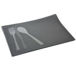 Термосалфетка Table Mat набір 12шт ложка вилка графит