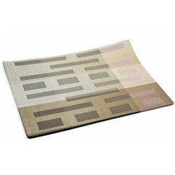 Термосалфетка Table Mat набір 12шт смужки штрих бежева