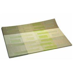 Термосалфетка Table Mat набір 12шт смужки штрих оливковая