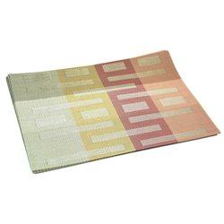 Термосалфетка Table Mat набір 12шт смужки штрих бежево-оранжева