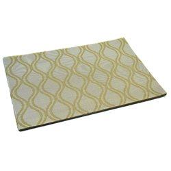 Термосалфетка Table Mat набір 12шт хвилі бежево-золоті