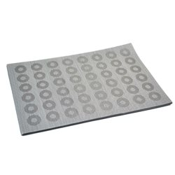 Термосалфетка Table Mat набір 12шт кружочки сірий