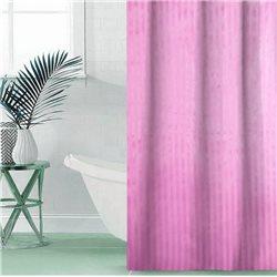 Штора Полоса ткань Премиум однотонная 180х180 розовый
