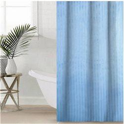 Штора Полоса ткань Премиум однотона 180х180 голуба