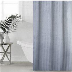 Штора Полоса ткань Премиум однотонная 180х180 серый