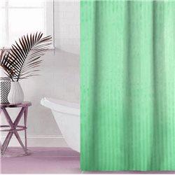 Штора Полоса ткань Премиум однотона 180х180 зелена
